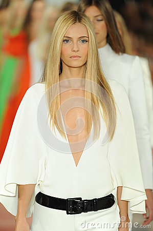 Free NEW YORK, NY - SEPTEMBER 12: Models Walk The Runway Finale At The Ralph Lauren Fashion Show Stock Images - 35850524