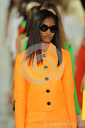 Free NEW YORK, NY - SEPTEMBER 12: Models Walk The Runway Finale At The Ralph Lauren Fashion Show Royalty Free Stock Photos - 35850548