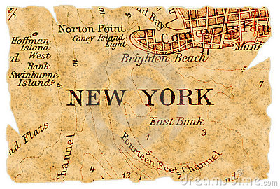 New York old map