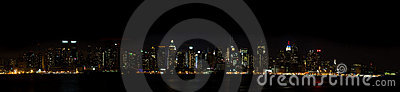 New York Panorama - Manhattan Sky Line at Night