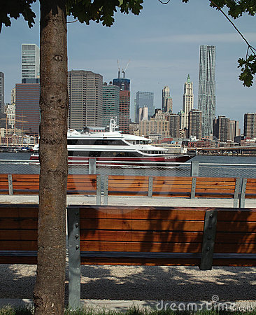 Pier One View of Manhattan New York USA Editorial Stock Photo