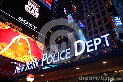 New York Police Department, Times Square, Manhatta Editorial Photo
