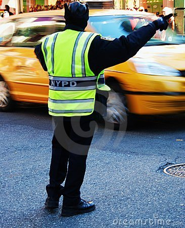 New York Police directing traffic Editorial Image