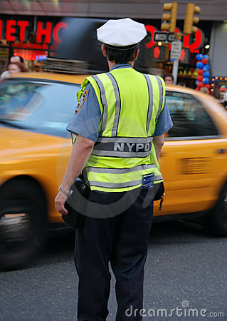 New York Police directing traffic Editorial Photography