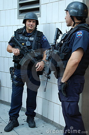 New York Police Emergency Services Unit Editorial Image