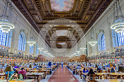 New York Public Library Editorial Stock Photo