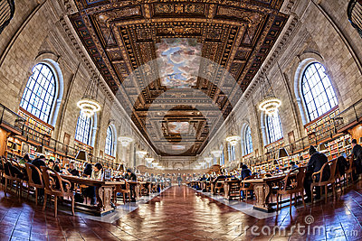 New York Pulbic Library Editorial Stock Photo