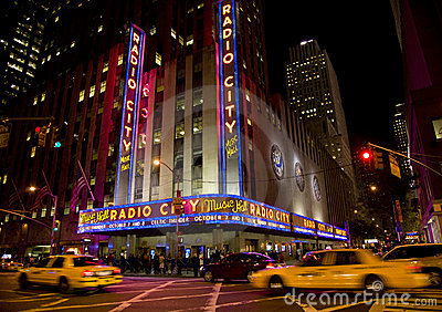 New York , Radio city Editorial Stock Image