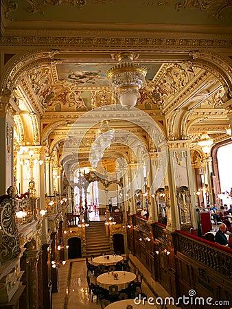 New York restaurant interior in Budapest Editorial Stock Image