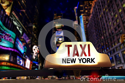 New yorks Taxi Stock Photo