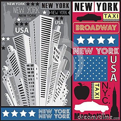 New York skyscraper illustration