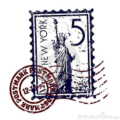 New York stamp or postmark style grunge