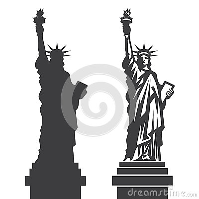 Free New York Statue Of Liberty Vector Silhouette Royalty Free Stock Photo - 58559155