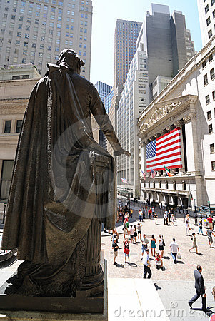 New York Stock Exchange and Federal Hall Editorial Stock Image