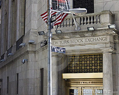 New York Stock Exchange Wall St Editorial Stock Photo