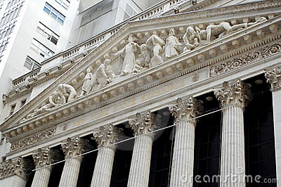 New York Stock Exchange, Wall Street Editorial Stock Photo