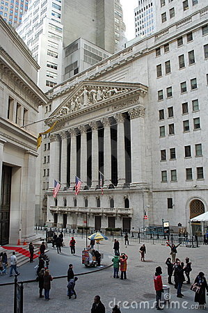 New York Stock Exchange, Wall Street Editorial Stock Image