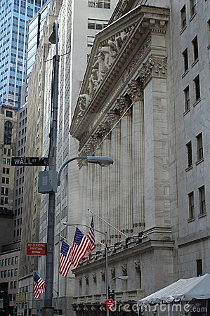 New York Stock Exchange, Wall Street Editorial Stock Image