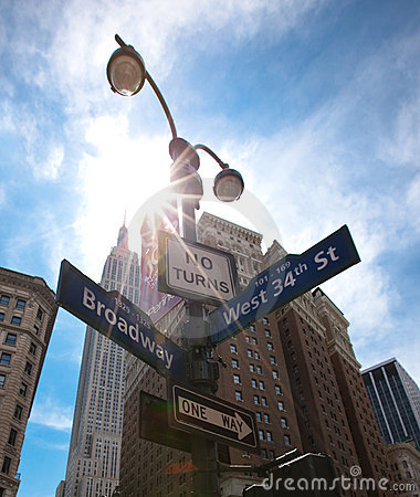 Free New York, Street Signs Stock Photography - 11893362