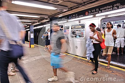 New York subway Editorial Photography