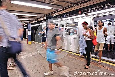 New York subway Editorial Photography