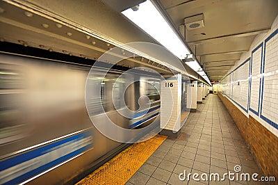 New york subway motion blur