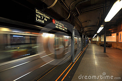 New york subway motion blur