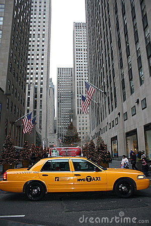 New York Taxi Cab Editorial Stock Image