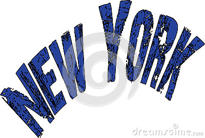 New York text sign