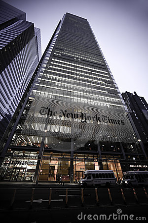 The New York Times Building Editorial Image