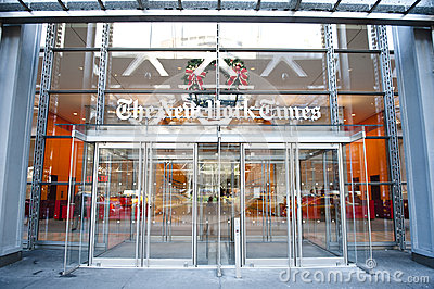 New York Times newspaper building Editorial Stock Photo