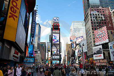 New York Times Square Editorial Stock Photo