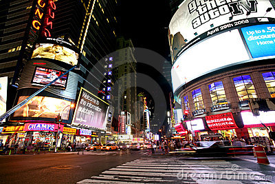 New York Times Square Editorial Photography