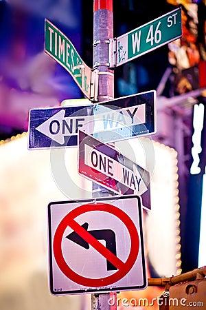 Free New York Traffic Signs Stock Image - 18105011