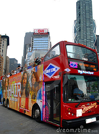 Free New York Travel Red Bus Stock Photography - 14478892