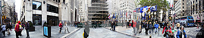Rockefeller Plaza Christmans Tree Panorama Manhattan New York NY Editorial Photo