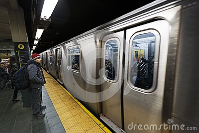 Commuters and Subway 42nd Street  Station Manhattan New-York Editorial Image