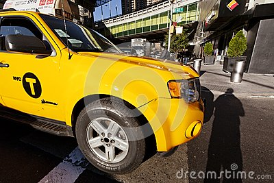 Yellow Taxi in NY Editorial Photography