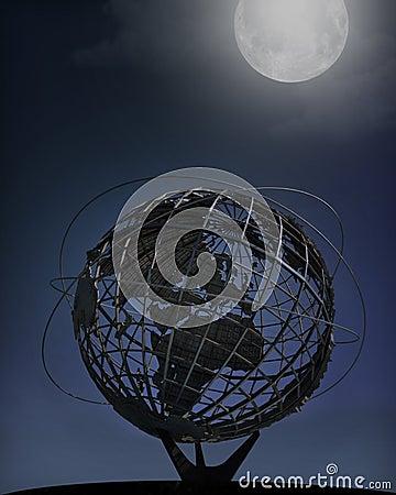 New York World s Fair Unisphere, Nighttime