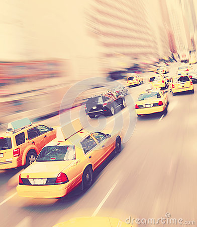 Free New York Yellow Taxicabs Stock Photography - 61304662