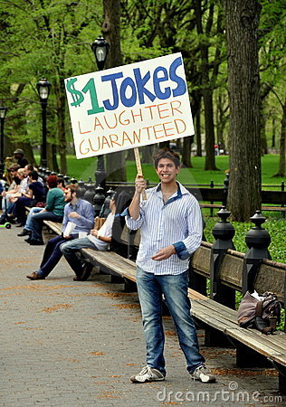 New York: Young Man in Central Park Editorial Photo