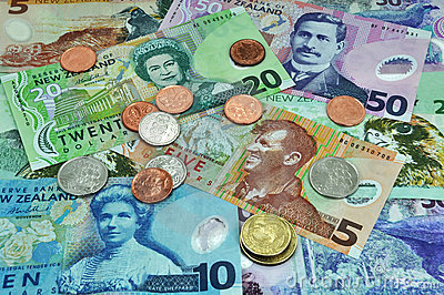 New Zealand Currency Dollar Notes & Coins Money
