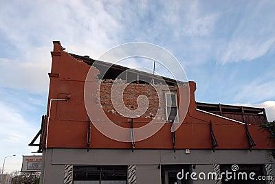 New Zealand Earthquake damage Editorial Stock Photo