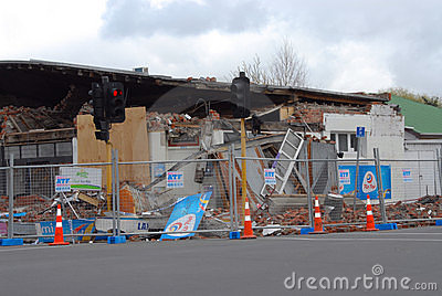 New Zealand Earthquake damage Editorial Stock Photo