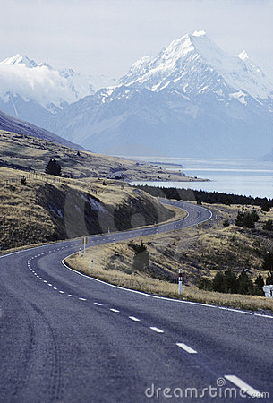 New Zealand Highway Royalty Free Stock Photos - Image: 4109288