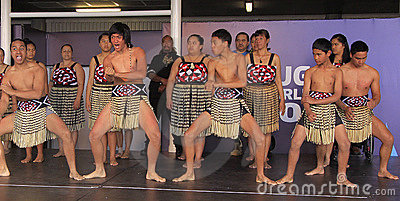 New Zealand Maori perform Haka War dance Editorial Photography