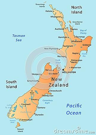 Free New Zealand Map Stock Photo - 9050170