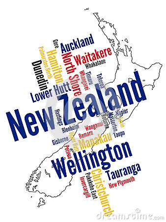 New Zealand map and cities