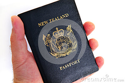 New Zealand passport Editorial Photography
