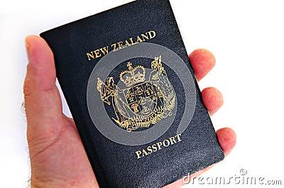 New Zealand passport Editorial Photography
